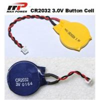 Quality CR2032 3V Primary Lithium Battery 210mAh , High Voltage Button Cell for sale