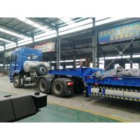 Buy cheap 3 axles low bed trailer 100 ton Front Loading lowbed trailer for sale | CIMC from wholesalers