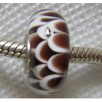 China Handmade Sterling Silver Core Lampwork Glass Beads on sale