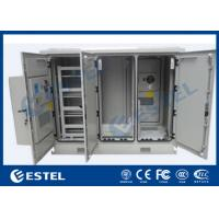 Quality Four Doors Network Enclosure Cabinet IP55 Three Compartment Air Conditioner Cooling for sale