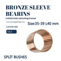 Buy cheap Diamond Oil Socket Split Sleeve Bronze Bushing Customized Size 35mm 39mm 40mm from wholesalers
