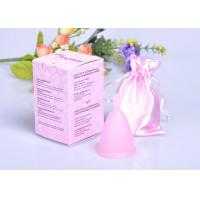 China Eco-Friendly Feminine Reusable Menstrual Cup Of 100% Platinum Silicone on sale