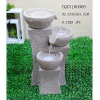 Buy Grey Garden Polyresin Water Fountain With Stone Effect 39 X 36.5 X 63.5 Cm at wholesale prices