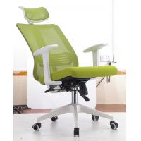 Quality Adjustable Back  Fabric Executive Office Chairs , Green Ergonomic Task Chair for sale