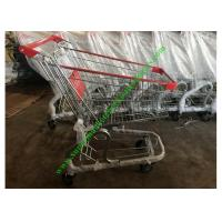 China Store / Supermarket Shopping Cart / Cargo Trolley With PU Wheels on sale