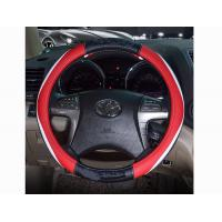 Quality Black White Red Leather Car Steering Wheel Cover For Honda No Smell for sale