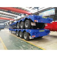 Quality 3 axles low bed trailer 100 ton Front Loading lowbed trailer for sale | CIMC TRAILERS for sale