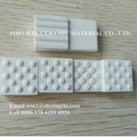 Buy cheap White antiwear materials alumina wear resistant ceramic lining from wholesalers