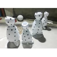 Quality Black Dot Patterns Flower Pot Statues With Polished Surface Treatment for sale