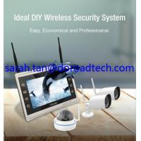 "High Quality 4CH Wifi IP Cameras 960P Wireless NVR with 11"" HD LCD Display Screen"