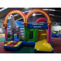 Quality Heavy Duty Rainbow Inflatable Jumping Castle Strong Blow Up House For Kids for sale
