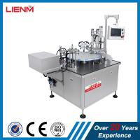 Quality roll-on glass bottles filling inserting roller capping machine fully automatic perfume oil fragrance filler capper line for sale