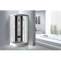 Matt Silver Profiles Curved Glass Shower Enclosures , Enclosed Shower Cubicles