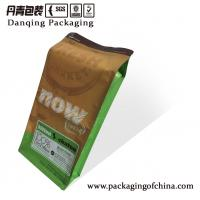 Quality Food Packaging Quad Seal Pouch , Flat Bottom Pouches With Zipper for sale