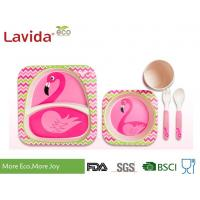 Quality Food Grade Bamboo Childrens Dinner Set BPA Free 5 Pieces Free Heavy Metals for sale