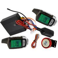 Quality LCD Alarm Bike Security Alarm And Remote Start System With Big Sound Siren for sale