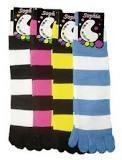 China Ladies black and yellow striped fuzzy seamless dress yoga short toe socks, sport toe socks on sale