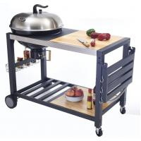 China Outside Commercial Kitchen Equipments Charcoal BBQ Grill With Cabinet And Table on sale