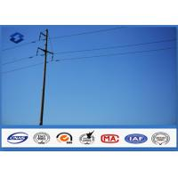 Quality 25FT 30FT 35FT 40FT Octagonal utility power pole , steel power pole 500KGS Design Load for sale