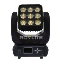 Quality 8° Lens LED Moving Head Light Matrix Beam Light 9pcs 15w RGBW Separately Control for sale