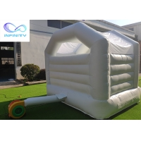 Quality Kids / Baby Pink & White Outdoor Inflatable Bouncer Jumping Castle For Girls/Boys for sale
