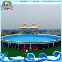 Outdoor inflatable frame pool above ground pvc frame pools for Garden inflatable swimming pool