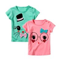 China Latest Design Cute Newborn Baby Clothes Little Girls T Shirt Boutique Wear on sale