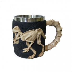 China 400ml animal polyresin double side stainless steel mug on sale