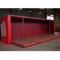 Quality foldable wall panel doors 40 HQ modified shipping container house for sale