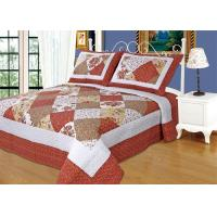 Imitated Patchwork Cotton Quilted Bedspread Machine Wash Cold Delicate