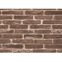 Quality Moisture Proof 3d Brick Effect Wallpaper Waterproof Vinyl Wall Covering Size 0.53*10m for sale