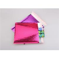 Quality Pink Metallic Bubble Mailers / Bubble Wrap Envelopes For Electronic Products for sale