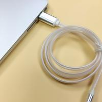 China Glow in dark USB cable iphone 2.1A charging data cable compatible phone cable on sale