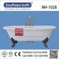 Quality Freestanding Clawfoot Antique Cast Iron Bathtub for sale