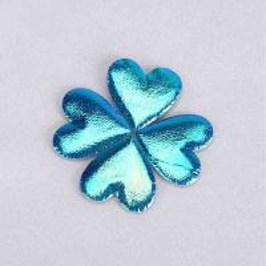 Quality Glitter Heart Ultrasonic Embossing Flowers Crafts Sparkling Blue Heart Padded Glitter for sale