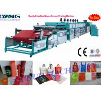 Quality Automatic double color non woven fabric roll to roll screen printing machine , 1500m/hour for sale