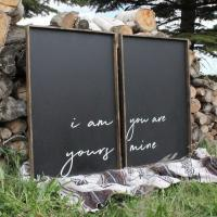 China Blackboard Vintage Wood Signs With Quotes Home Decor Easy Maintenance on sale