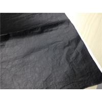 China 0.15mm With Black PU Garment Leather Fabric Dubont Paper Coated  For Light Jacket on sale