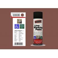 Quality AEROPAK 500ML mission brown color Line Marking Spray Paint for road with SGS for sale