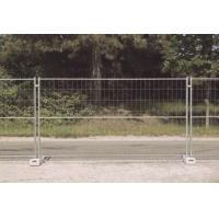 Quality M300 Heras Security Fencing Panels Horizontal Pipe x 3 3.00mm/2.50mm wire mesh 100x250 Height2.0m x 3.5m width for sale