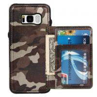Camouflage Samsung S8 Plus Wallet Case , Back Cover Custom Leather Phone Cases