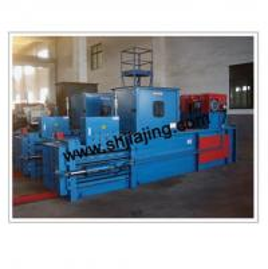 Horizontal hydraulic baler machine