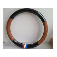 Quality Black And Brown Classic Automotive Steering Cover Durable And Comfortable for sale