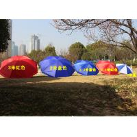 Quality Polyester Fabric Outdoor Sun Umbrellas Customized Logo For Commercial Street for sale