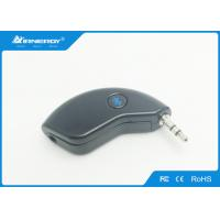 Quality Black Bluetooth Audio Receiver / Hand Free Bluetooth Audio Transmitter For Car for sale