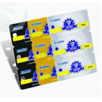 China Unique Square Plastic PVC Business Cards 3-in-1 0.3mm-1.0mm Thickness for sale