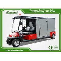 China Red 2 Passenger Electric Ambulance Car For Emergency Closed Type on sale