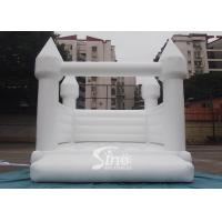 Quality Outdoor 5x4m adults wedding white bouncy castle for wedding parties or events for sale