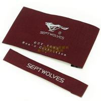 Garments Woven Labels Small Quantities , High Density Woven Apparel Labels