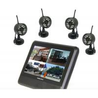 Quality 7 Inches 4 Channel DVR Security System Wireless Transmitter And Receiver Surveillance for sale
